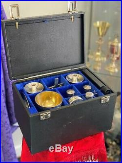 12 Piece Communion Set Stunning Quality Gilded Silver Plate Circa 1950's