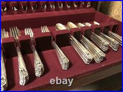 1847 Roger Bros IS Silverplate Flatware-70 Pieces Eternally Yours-Service for 12