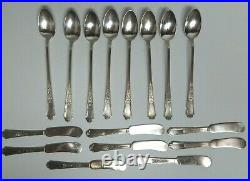 1847 Rogers Bros Ancestral Pieces of Charm Silverware 78 Piece Set Silverplated