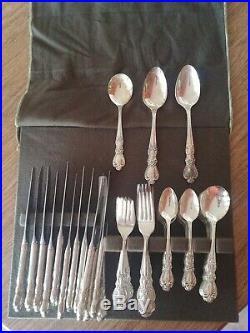 1847 Rogers Bros Heritage Silverware Flatware 75 piece set
