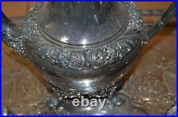 1847 Rogers Bros Heritage Tea Coffee Set Tray 5 Pieces Pot Creamer Sugar Bowl