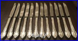 1847 Rogers Bros & International Silverplate Remembrance Silverware 77 Pieces