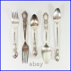 1847 Rogers Bros Vintage Silverplate Flatware Set with case 119 Pieces