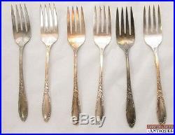 1934 Chateau Heirloom Plate Oneida 47 Piece Set Silver Plate Flatware Vintage