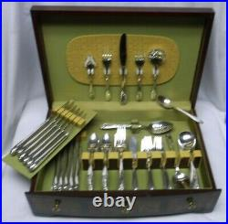 1947 Rogers Bros Daffodil Pattern Service for 12 Flatware Set 76 Pieces