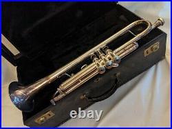 1975 Getzen Eterna Severinsen Trumpet Silver Mendez Mouth Piece Case Paper Work