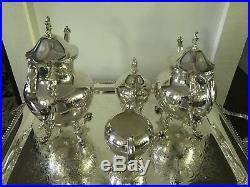19th century Art Deco Silver Plate, 4 Pieces tea/coffee Set, reduce