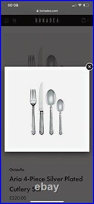 20 Piece Christofle France Aria Silver Plate Flatware Set