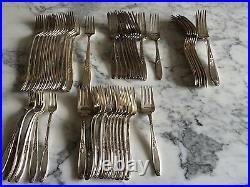 237 Piece Set 1847 Rogers Bros. Ambassador Pattern Silverplate