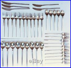 40 PIECE LOT Gorgeous Lundtofte Vintage Danish Design MCM silverware