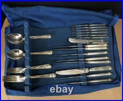 40 Pcs Christofle Aria Flatware Service For 8 Serving Pieces Silver Plate France