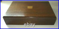 41 piece 1920s / 30s mahogany cased, rat tailed, canteen cutlery Walker & Hall