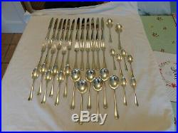 44 Piece Vintage Silver Plate Mappin & Webb Rat Tail Cutlery Set Canteen