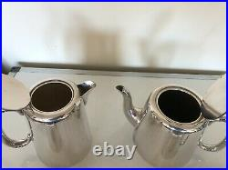 4 PIECE SILVER PLATED HOTEL WARE TEA/COFFEE SERVICE (H L & Co Ltd) SPTCS-PPP