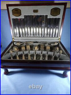 58 Piece Set Silver Plated Canteen of Cutlery Viners Durbarry Classic Pattern