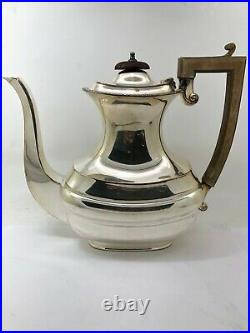 5 Piece English Silverplate on Copper 843 Tea Set With Tilting Teapot