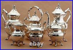 6-Piece Silverplate Tea & Coffee (Silverplate, Hollowware) by GOLDFEDER SILVER