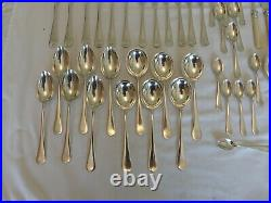 71 Piece Mappin & Webb Silver Plate Old English Cutlery Canteen Set