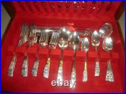 83 Piece Oneida Community Coronation Silver Plate Silverware Vintage Serving