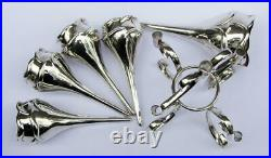 ANTIQUE TULIP BUD EPERGNE Silver Plated c1905 TABLE CENTRE PIECE Arts & Crafts