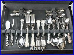ARTHUR PRICE Silver Plated Canteen of Cutlery 69 Piece Wooden Hinged Box