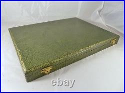 ART DECO French Dessert Set 36 pieces Bakelite Gilded Metal Table BOX 1930