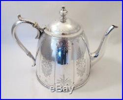A Fine 5 Piece Silver Plate Tea Set by Elkington c1900
