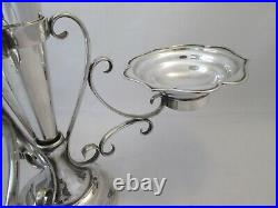 A Good 19thC Silver Plated Table Centre Piece / Epergne / Vase