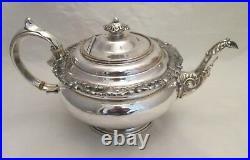 A Very Fine Ornate Old Sheffield Plate 3 Piece Tea Set c1820