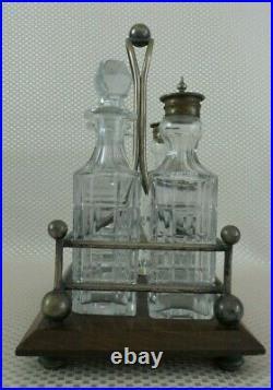 Antique 1890s 6 Piece Silverplate Cruet Condiment Set by William Page Birmingham