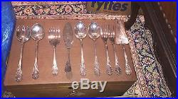 Antique 19th Christofle France Canteen Of 12 Catlary Silver Plate 120 Pieces