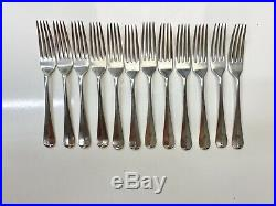 Antique 86 Piece Mappin & Webb Silver Plate Rat Tail Cutlery Canteen JU43#
