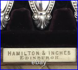 Antique Boxed 24 Piece Fish Cutlery Set Silver Plate Harrison Bros & Howson
