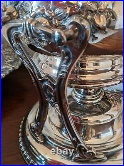 Antique Friedman Silver Company Hand chased plated six piece tea set