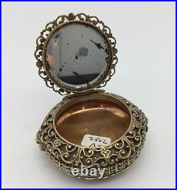 Antique Ladies Filigree Patch Box circa 1865