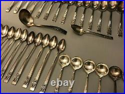 Antique ONEIDA Community Coronation Silver Plate Silverware Set 100 pieces