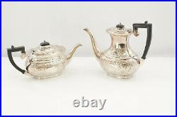 Antique Sheffield Crafton EPNS Silverplate 4 Piece Tea & Coffee Set