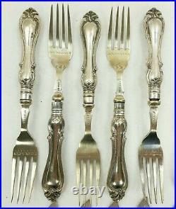 Antique Sheffield England Silver Engraved Fish Set Service 23 Pieces