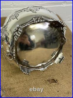 Antique Silver Plated Tea Set 3 Piece Service Superb Set Bird Finals