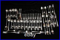 Antique Vintage Community Oneida Evening Star Silver Plated 69 Piece Set 12