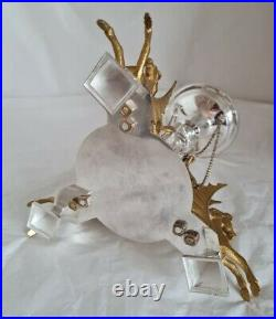 Antique silver plated center piece. Of naturalistic form. By Walker & Hall. C1900's