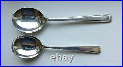 Art Deco Oak Canteen Cutlery 91 Pieces Faux Bone Handles Silver Plate Stainless