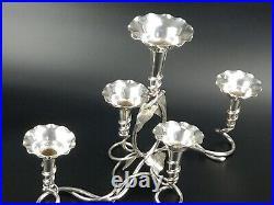 Art Nouveau Silver Plated Flower Vase Epergne Centre Piece