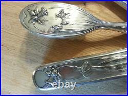 Art nouveau WMF silver plated 4 Piece Vanity Set. Secessionist