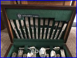 Arthur Price 44 Piece Cutlery Set EPNS A1 Silver Plated Kings Design