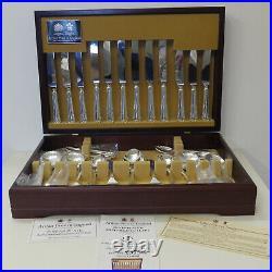Arthur Price 44 piece Silver Plate 18/8 Cutlery Set Dubarry Design