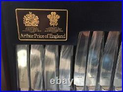 Arthur Price silver plated bead design cutlery 58 piece set, unused