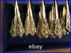 BAROQUE by GODINGER Silver Plate Flatware Set and Serving Pieces 82 Piece