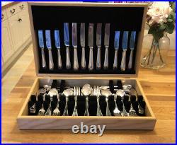BEAD Design 83 Piece JOHN STEPHENSON Silver Service Canteen of Cutlery EPNS A1