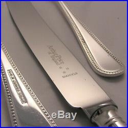 BEAD Design ARTHUR PRICE Sheffield Silver Service 44 Piece Canteen of Cutlery